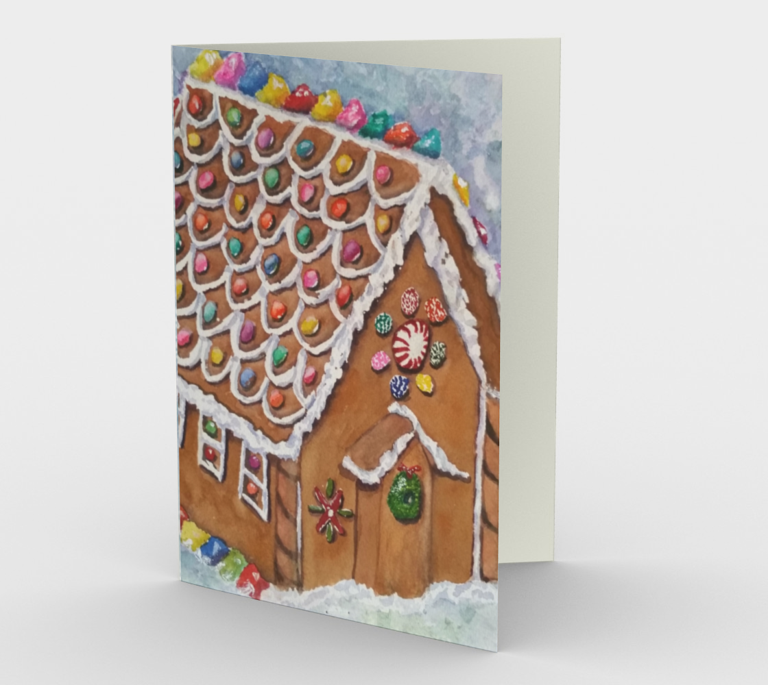 CHRISTMAS GINGERBREAD HOUSE Holiday Cards preview