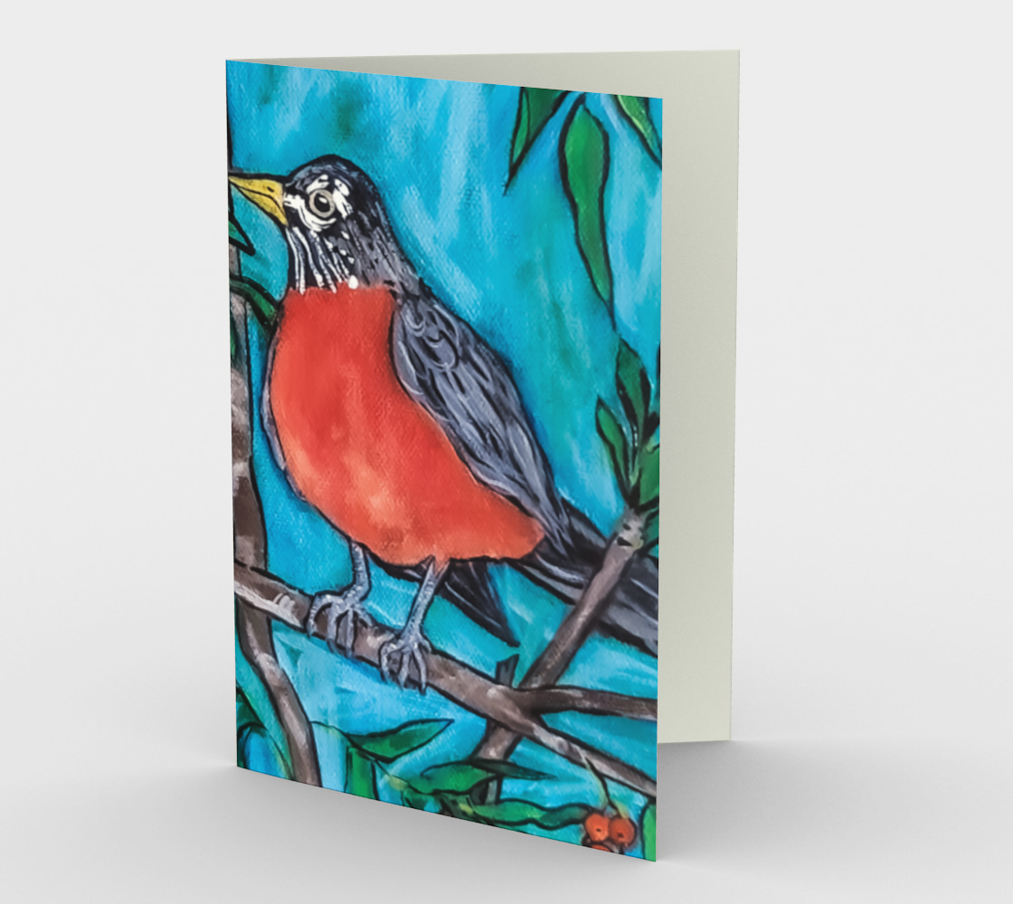 Robin in the Mountain Ash Card preview