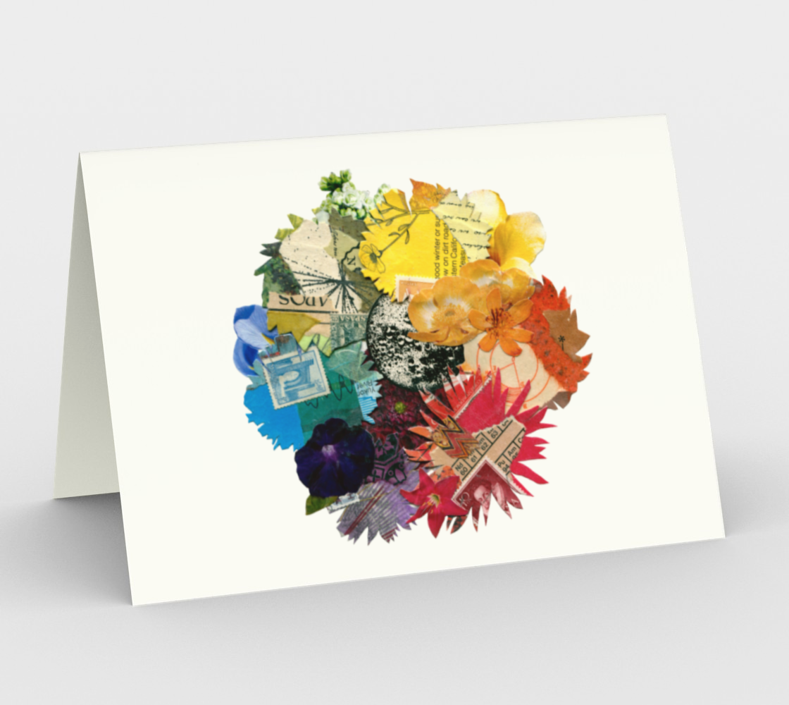 Colour Wheel blank card preview