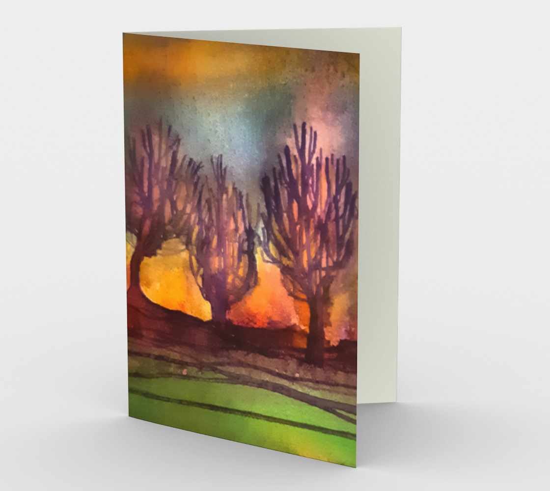 Landscape Trees Card preview