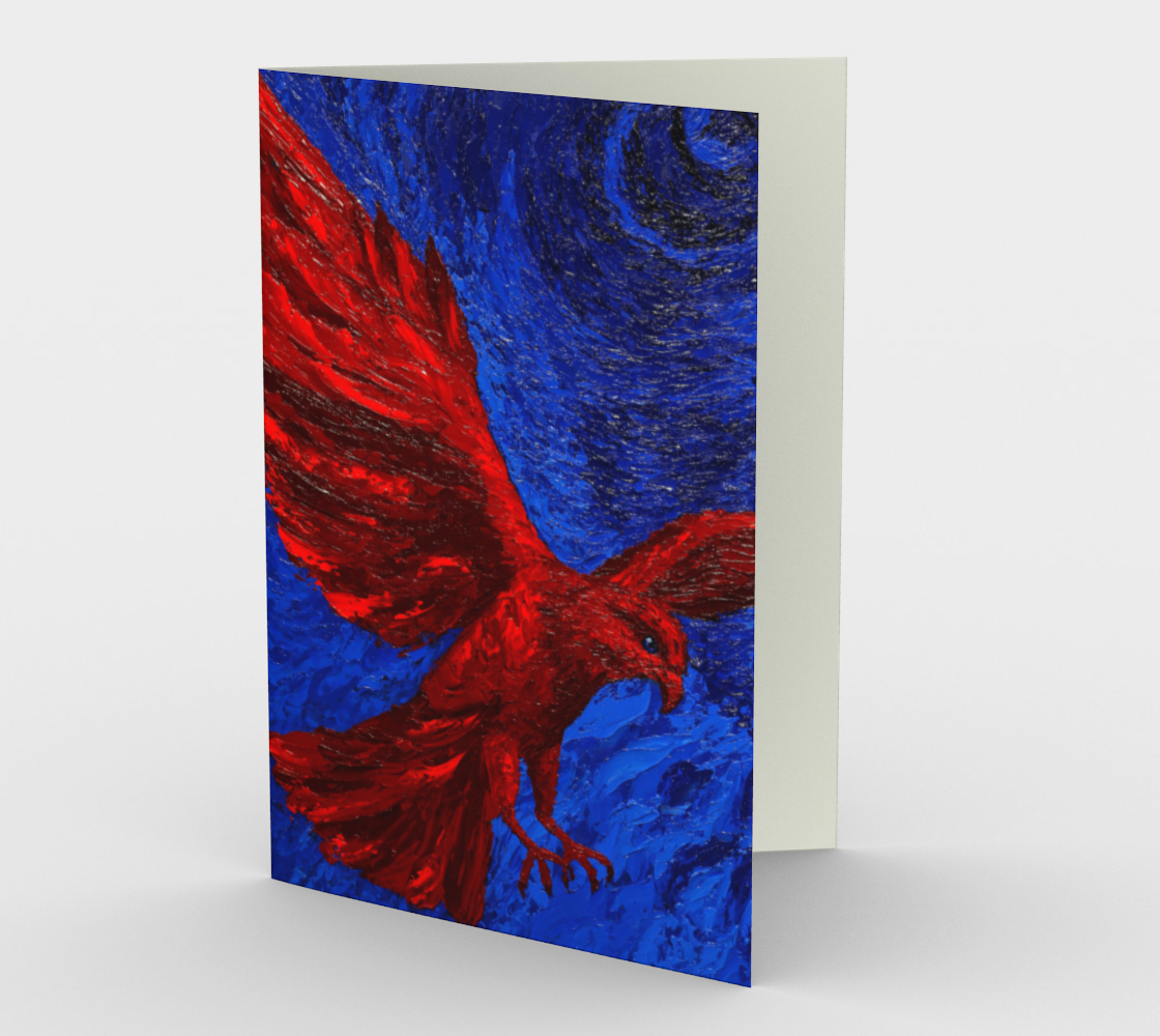 Red Peregrine Note Card preview