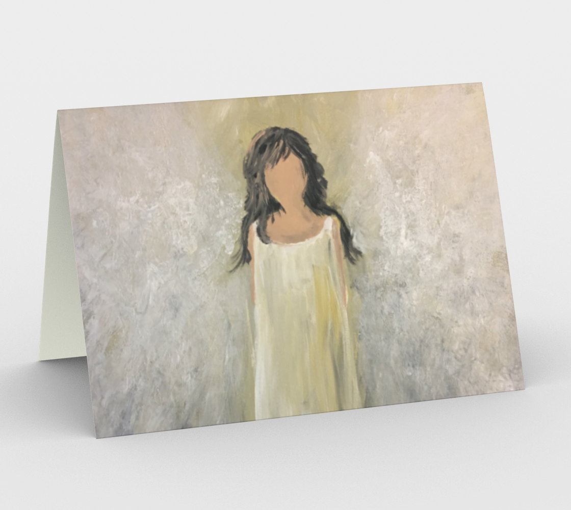Angel Light Horizontal Card by Karen Pedevilla preview