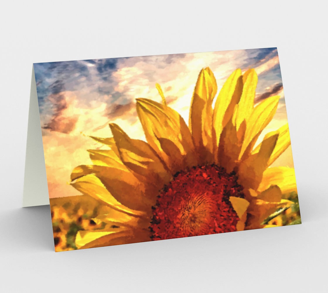 Sunflower Sunrise Card by Dave Lee preview #1