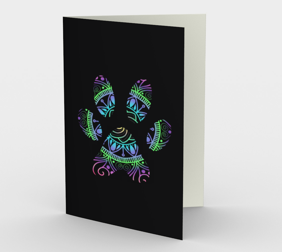 Aperçu de Paw Print Note Cards