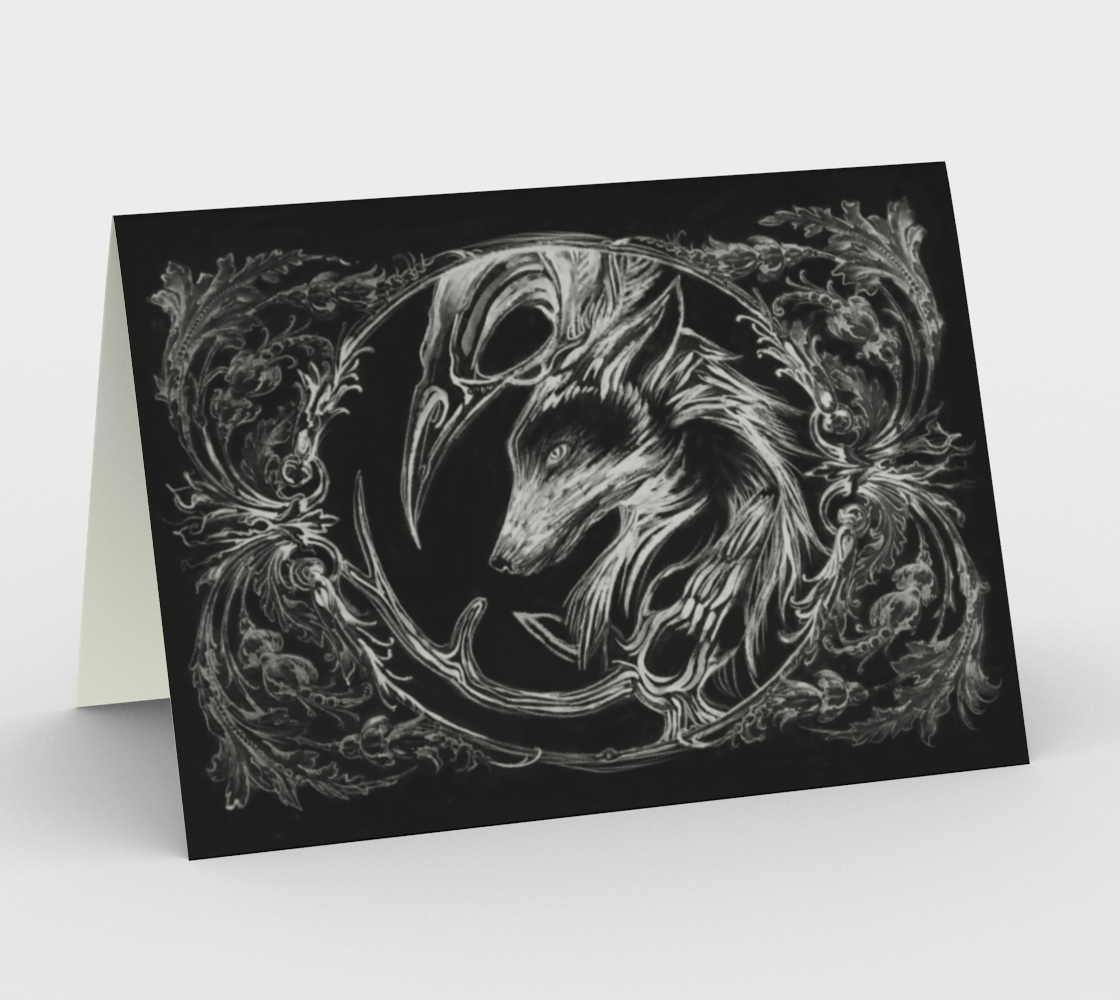 raven wold deer card preview
