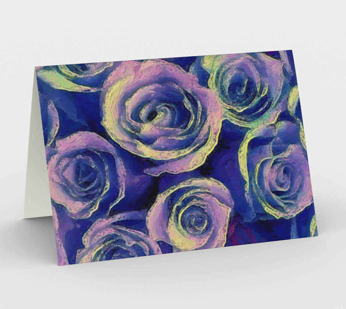 Purple Roses Card Landscape by Bryan Bromstrup Miniature #2