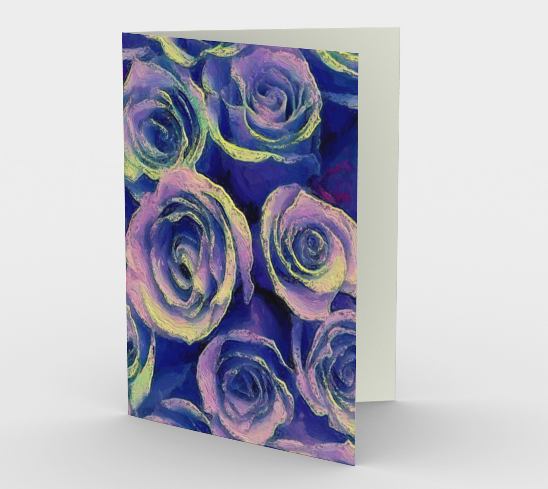 Purple Roses Card Portrait by Bryan Bromstrup preview