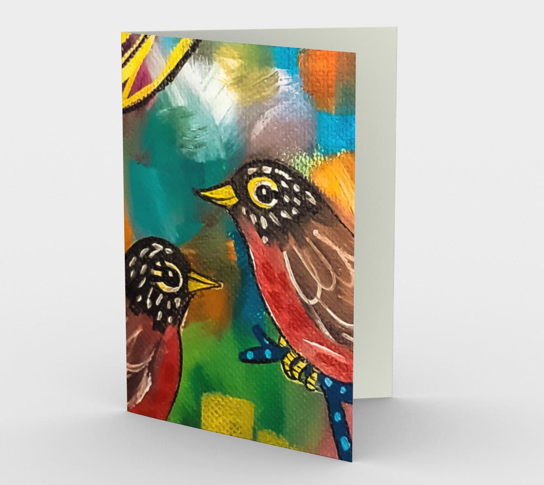 Aperçu de Colorful Robins Card