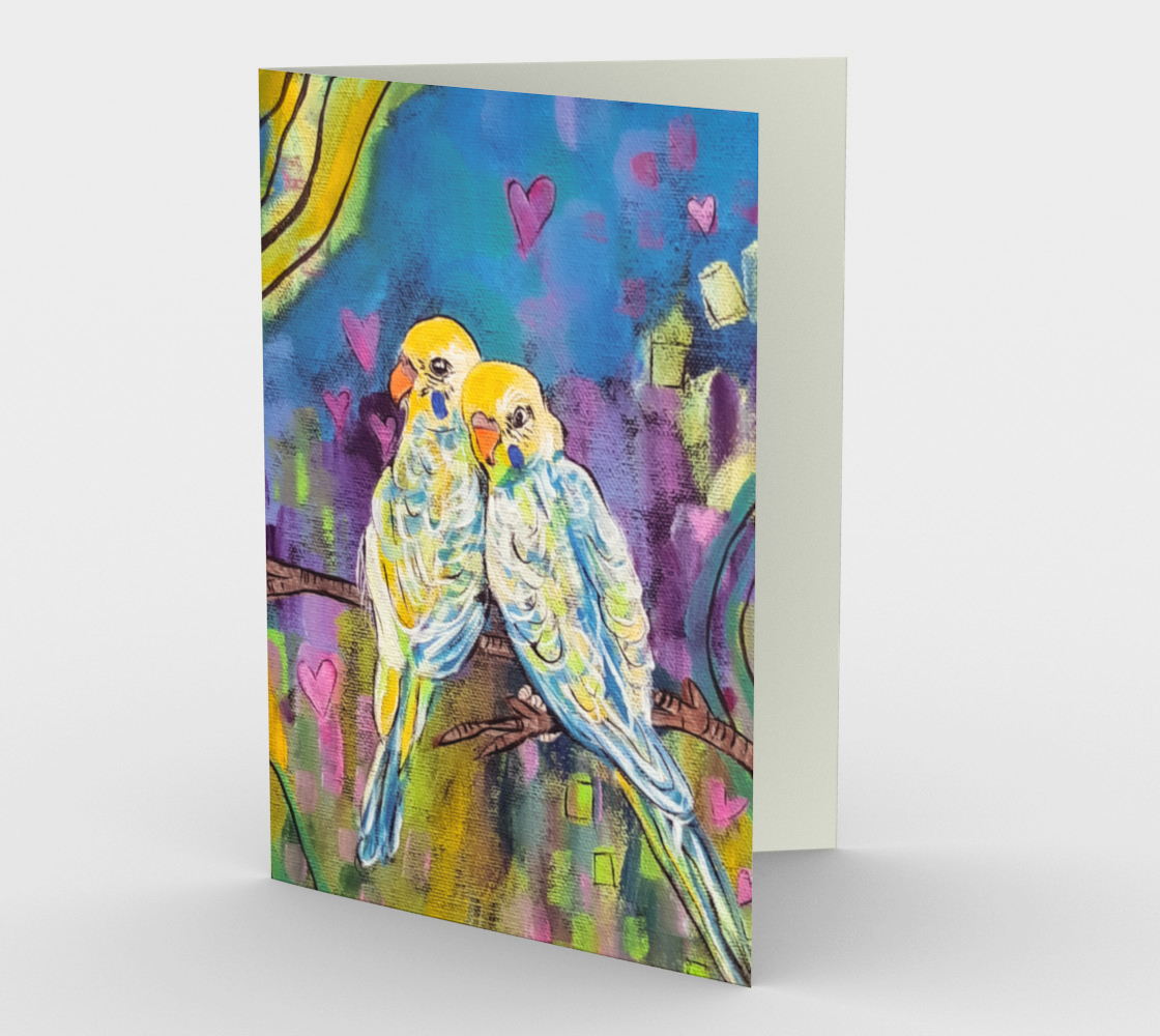 Love Birds Card preview