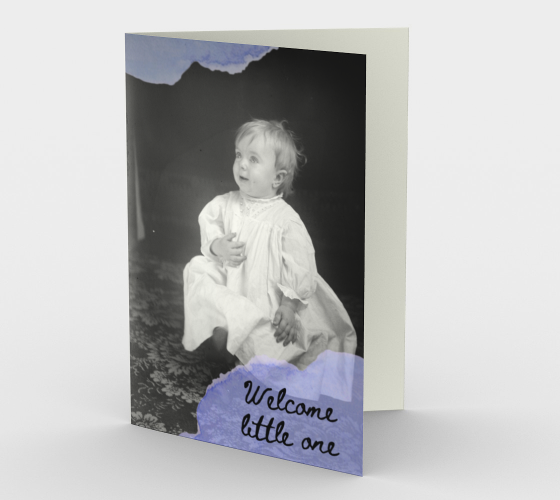 Welcome little one (blue) preview