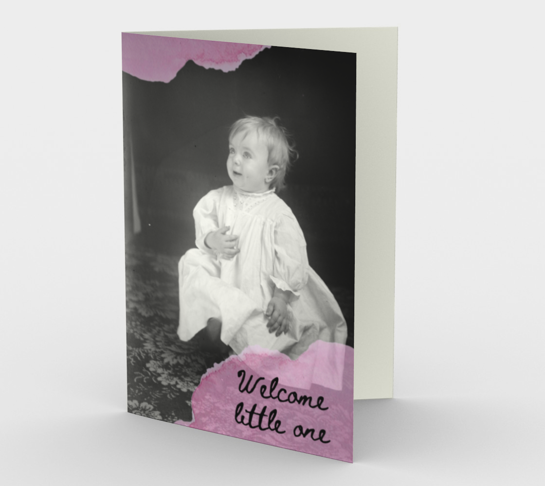 Welcome little one (pink) preview