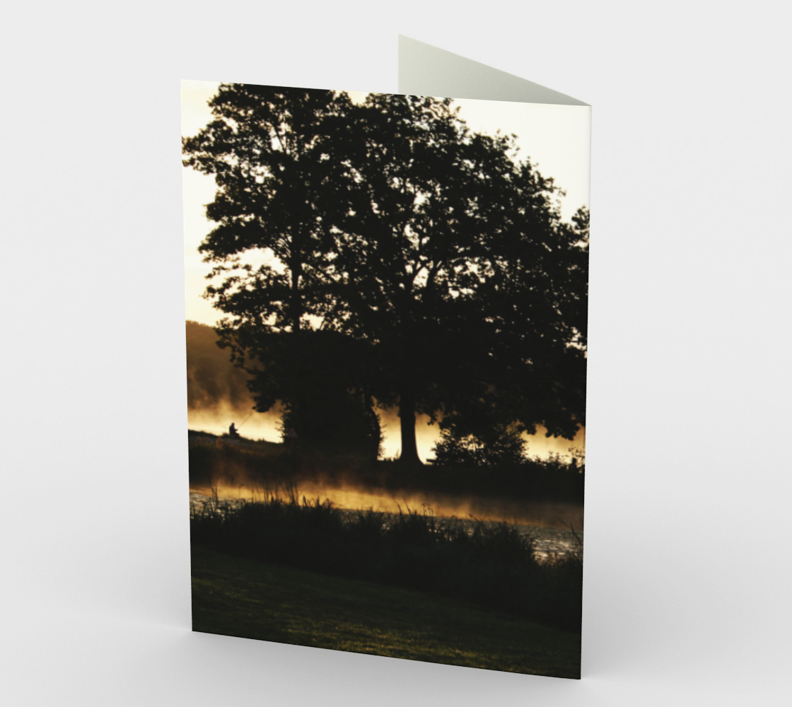 Morning Lake Scene Stationery Card preview #2