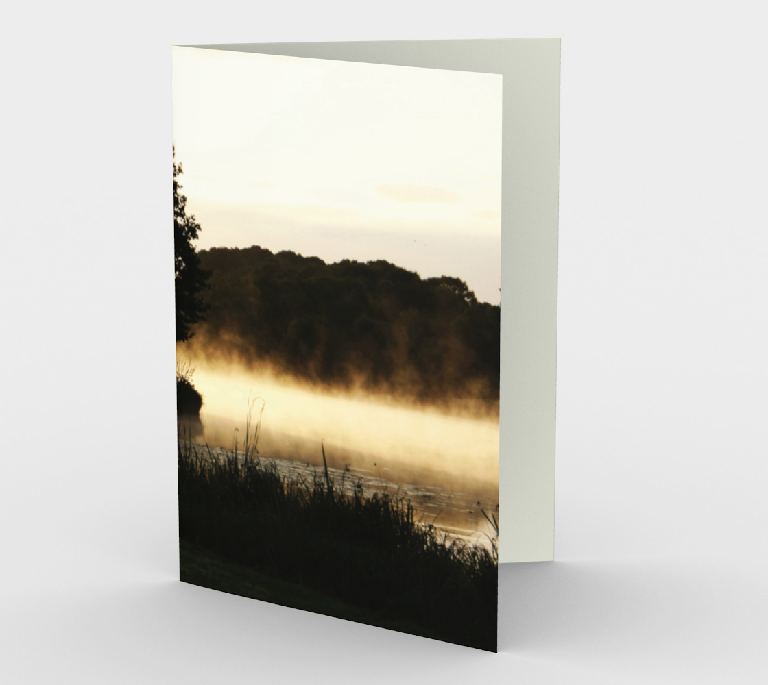 Morning Lake Scene Stationery Card preview