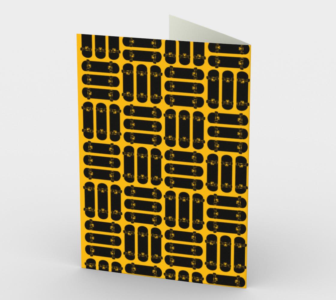 Skateboard Rows Pattern on Orange preview #2
