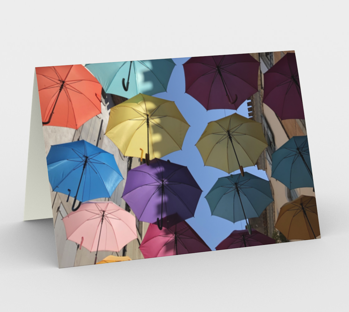 Carcassonne umbrellas preview