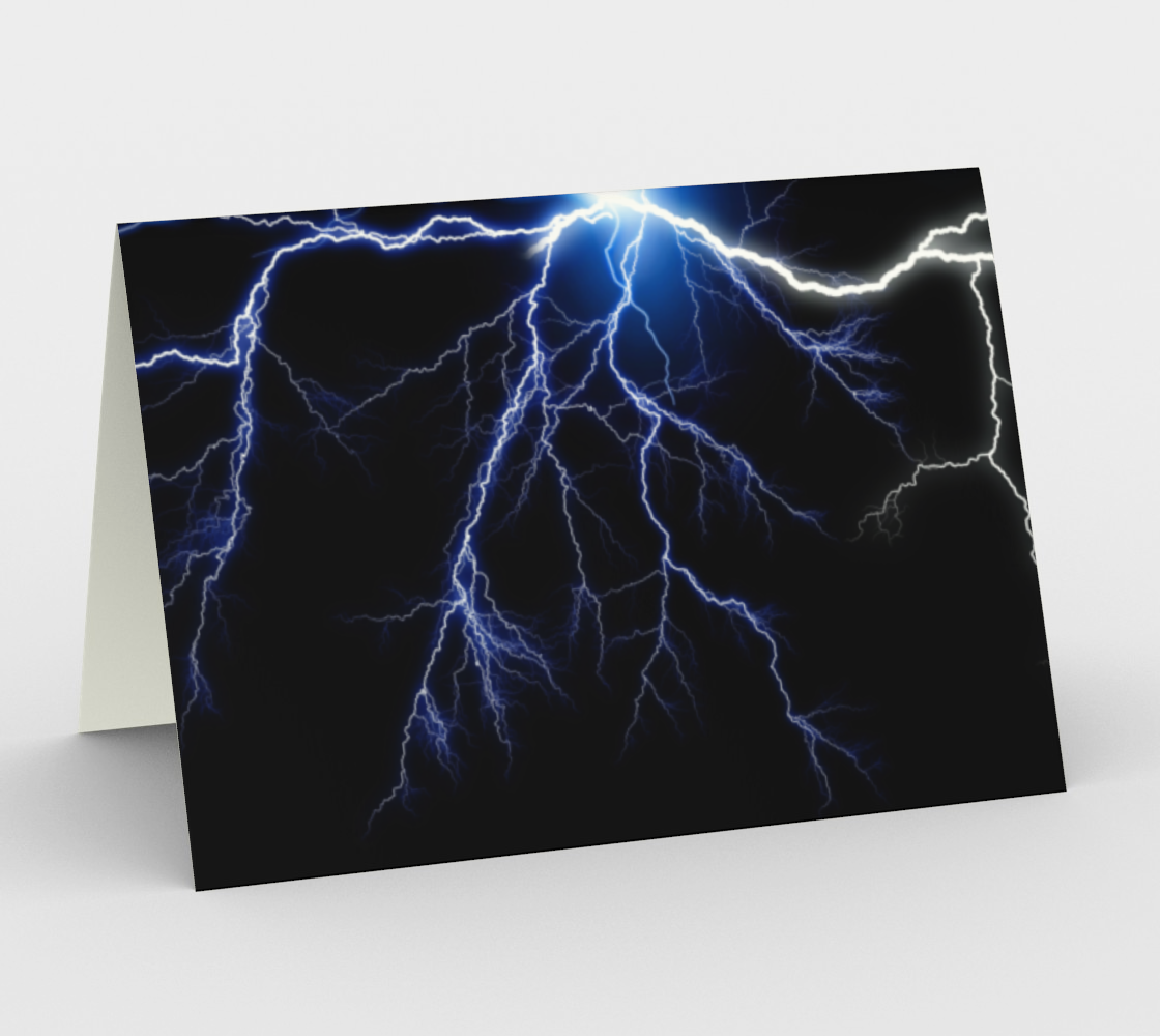 Blue Thunder Lightning in a Circle preview