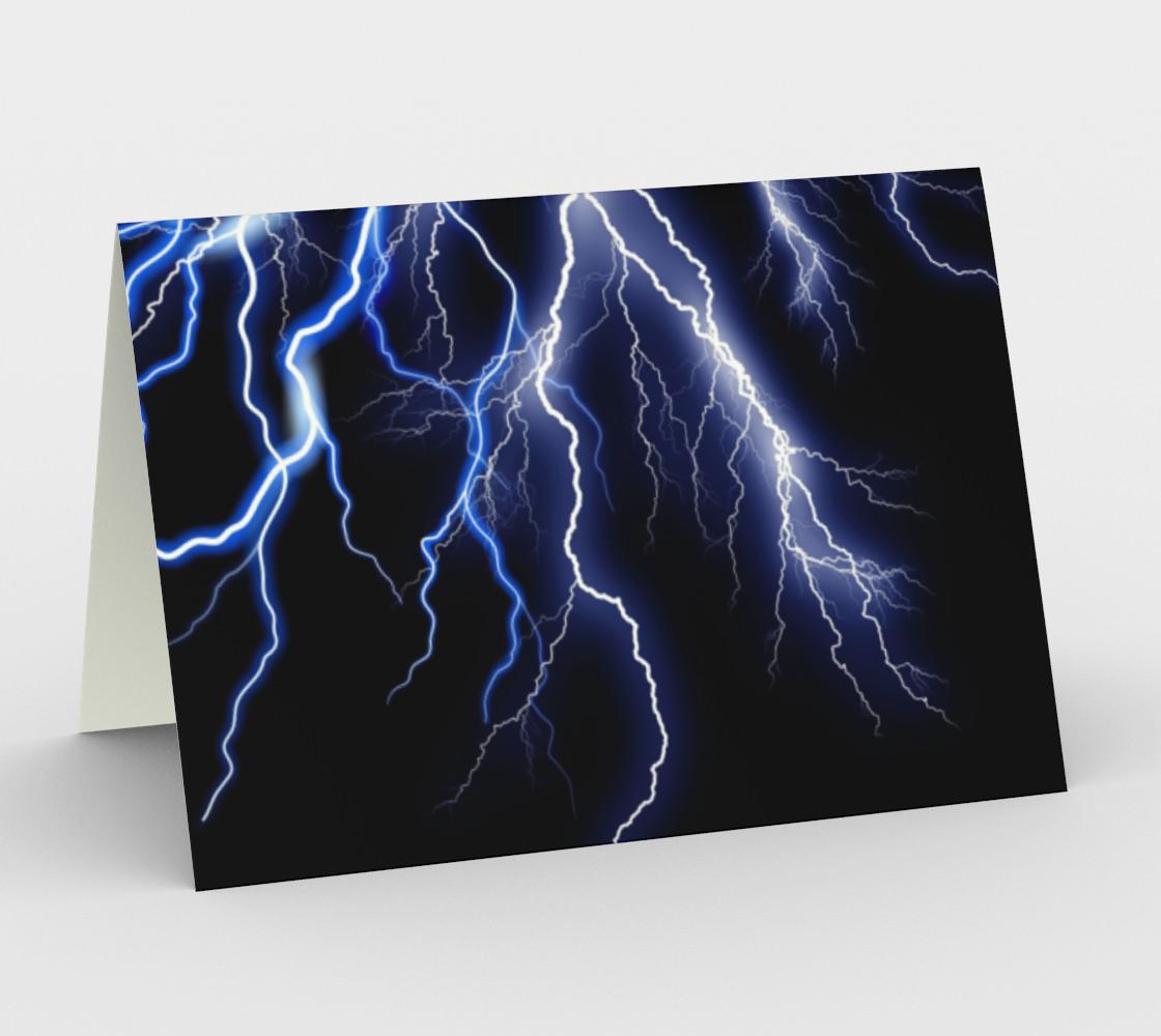 Blue Thunder Lightning at Night preview