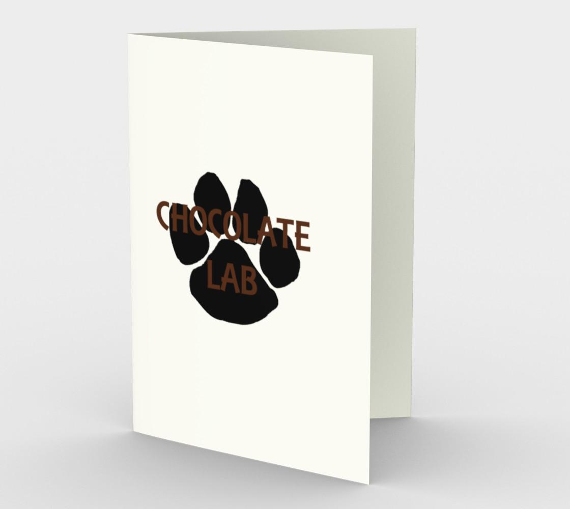Labrador Retriever chocolate name paw stationary greeting card preview