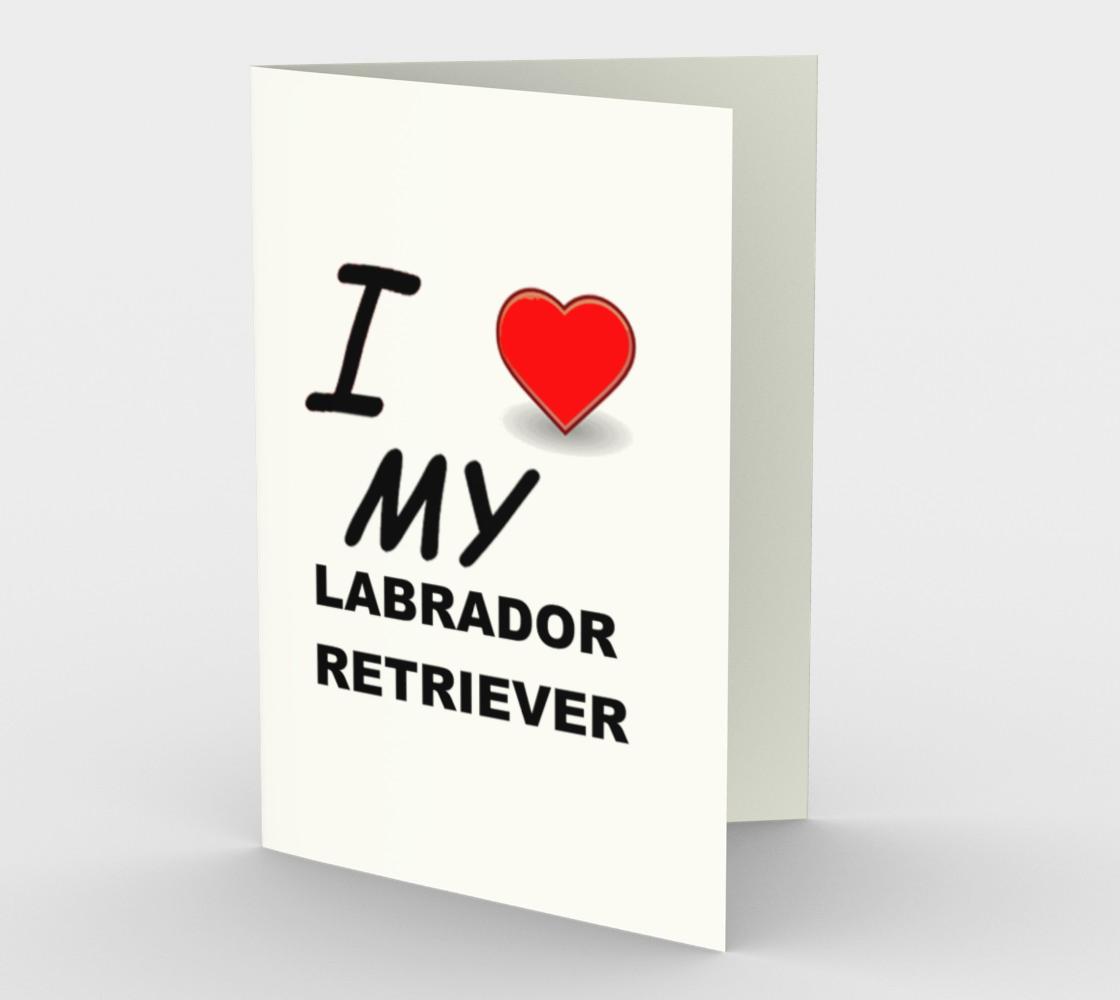 Labrador Retriever love stationary greeting card preview