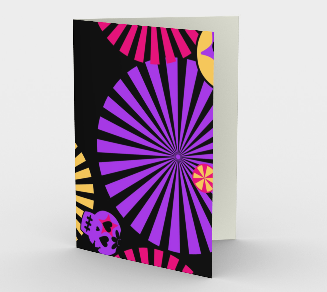 day of the dead Halloween stationary greeting card preview