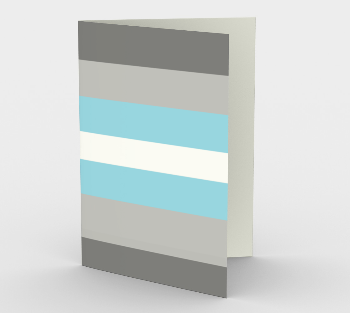Demiboy LGBTQ stationary greeting card preview