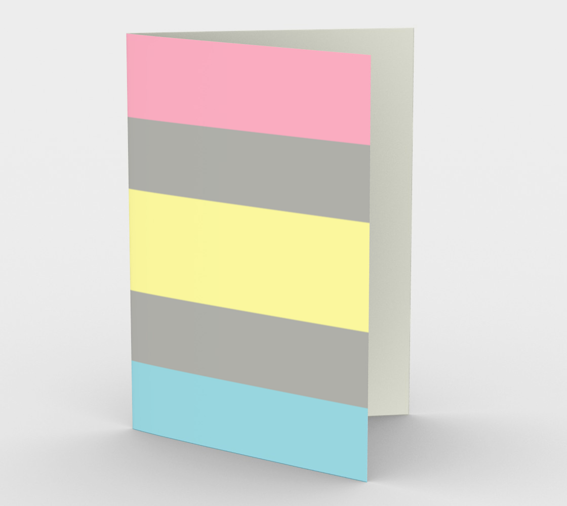Demiflux LGBTQ stationary greeting card preview