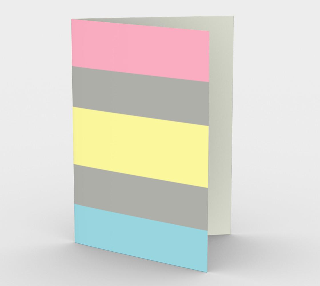 Demifluid LGBTQ stationary greeting card preview