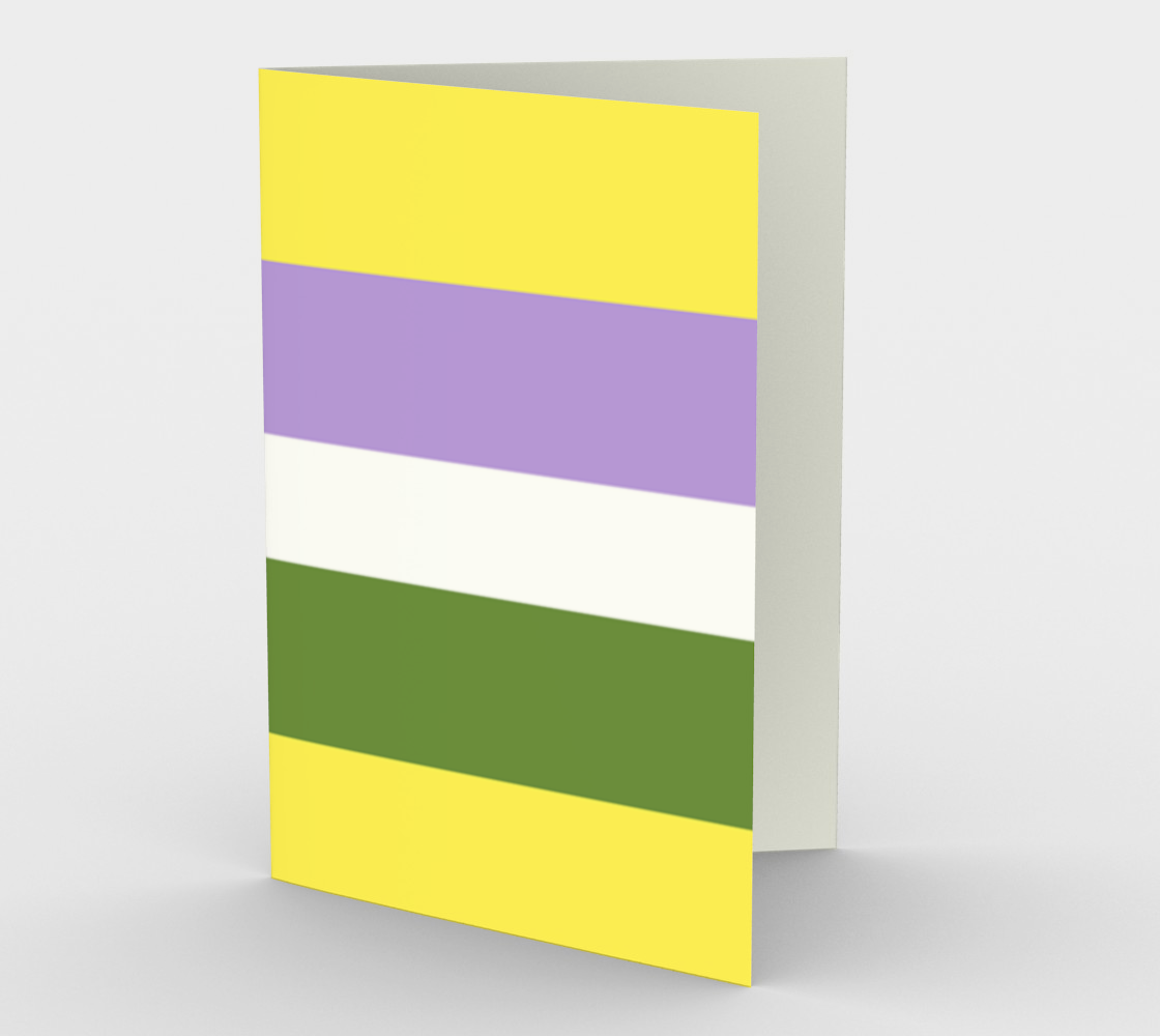 Demigender LGBTQ stationary greeting card preview