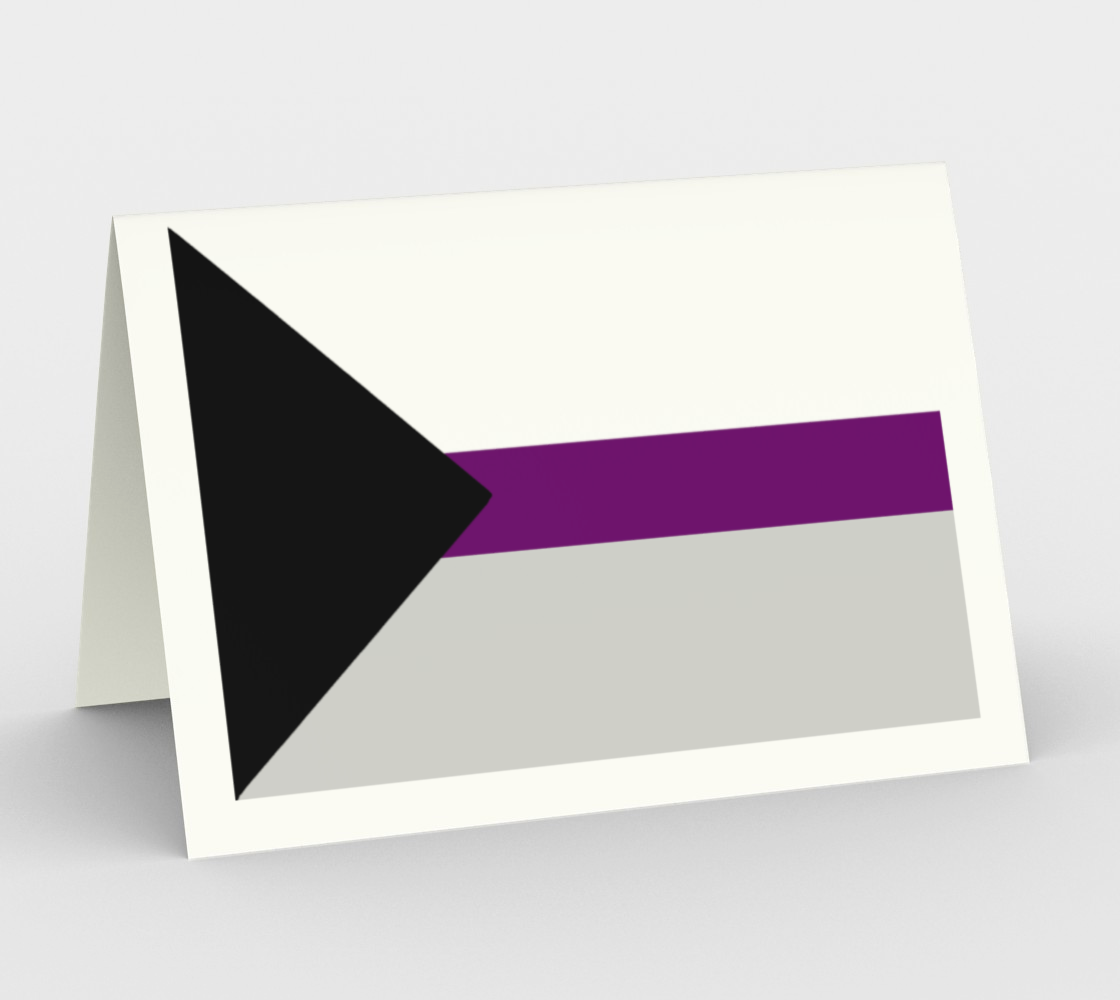 Demisexual LGBRQ stationary greeting card preview