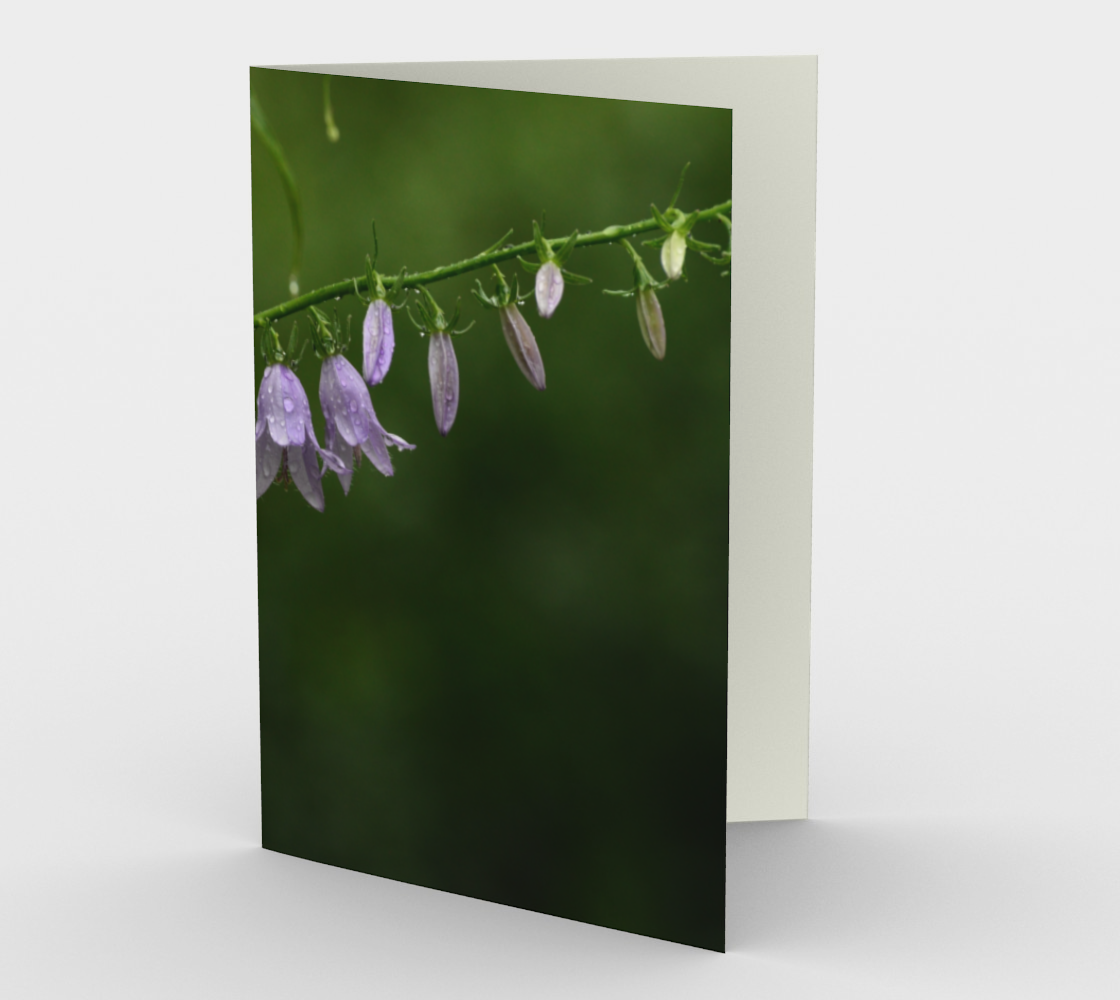 Dewey Purple Flowers stationary greeting card preview