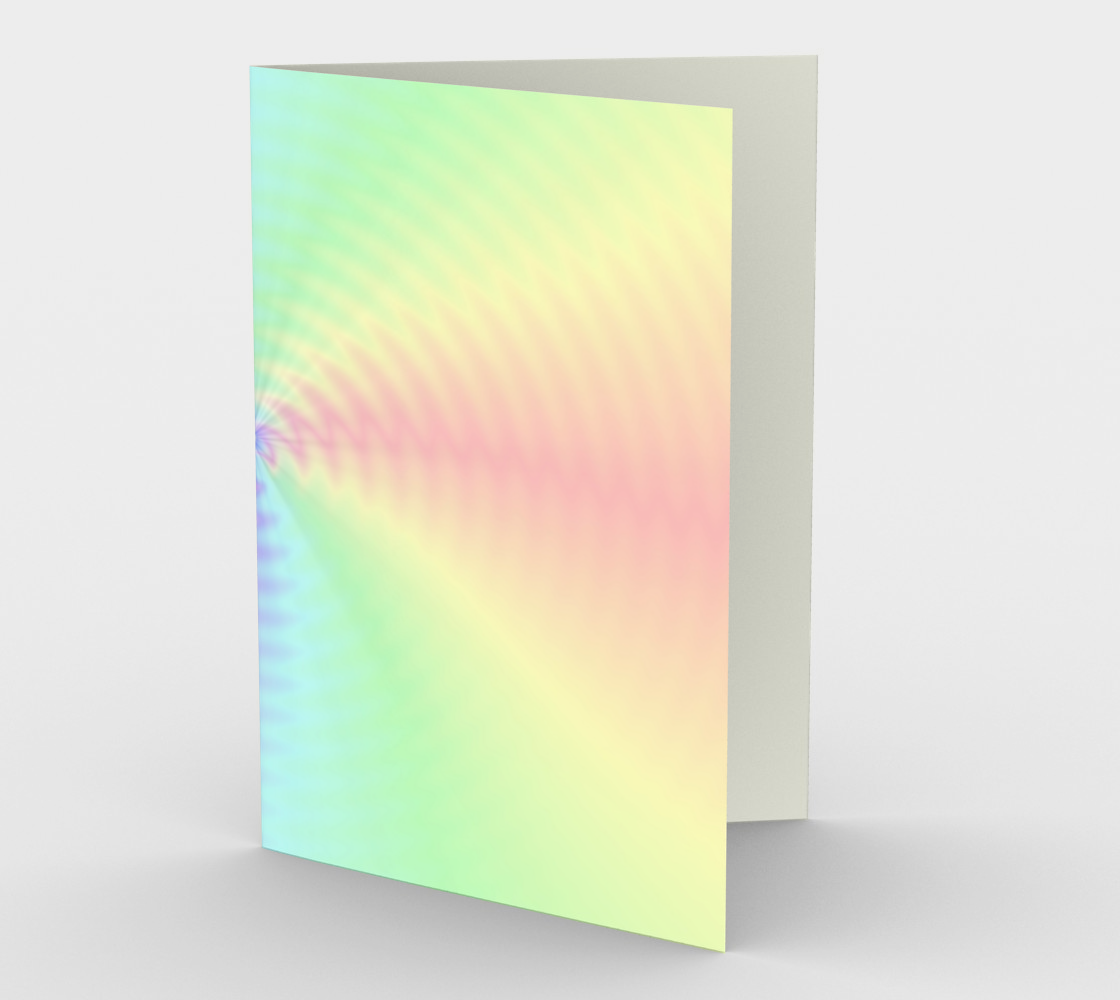 Dilute Rainbow Vortex LGBTQ stationary greeting card preview