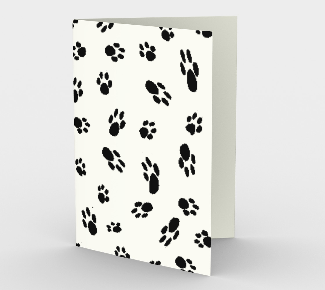 Dog Paws stationary greeting card preview