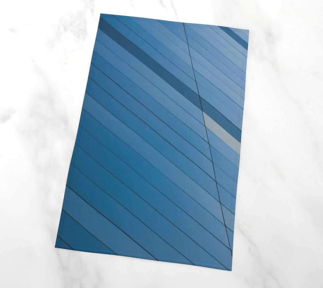 Aperçu de Blue wall tea towel, #2