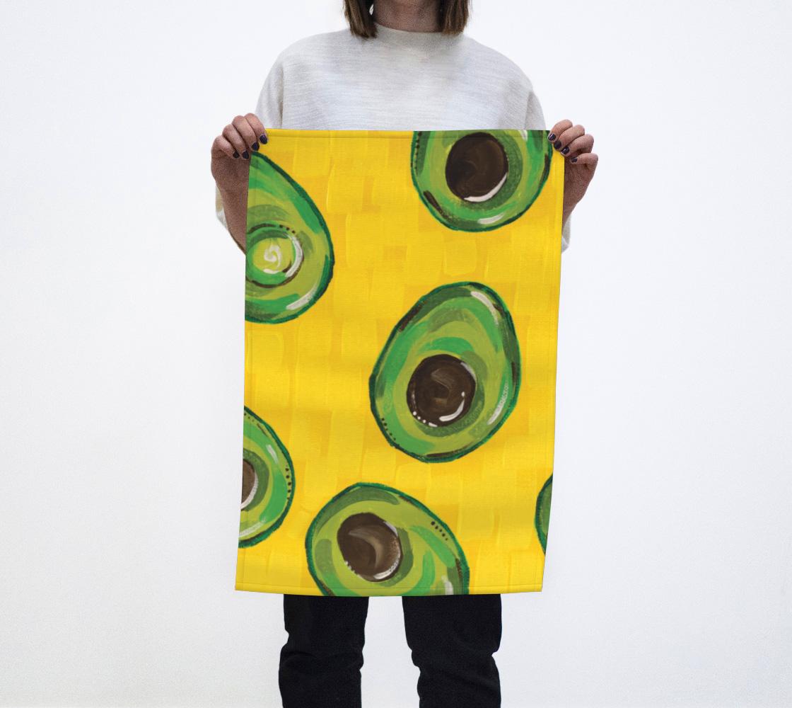 Avocado (Painting) Tea Towel aperçu