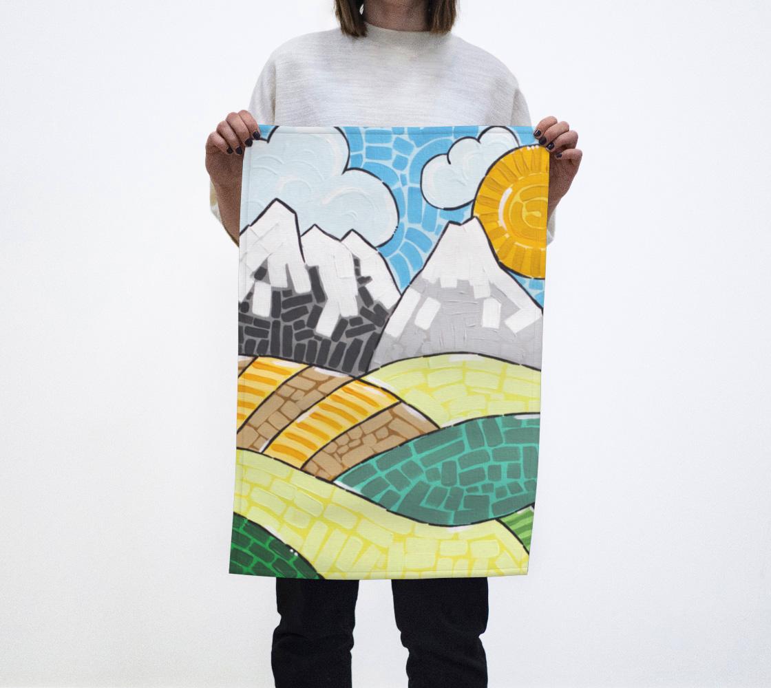 Alberta (Painting) Tea Towel aperçu