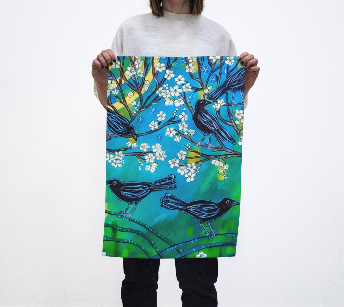 Crows Tea Towel aperçu