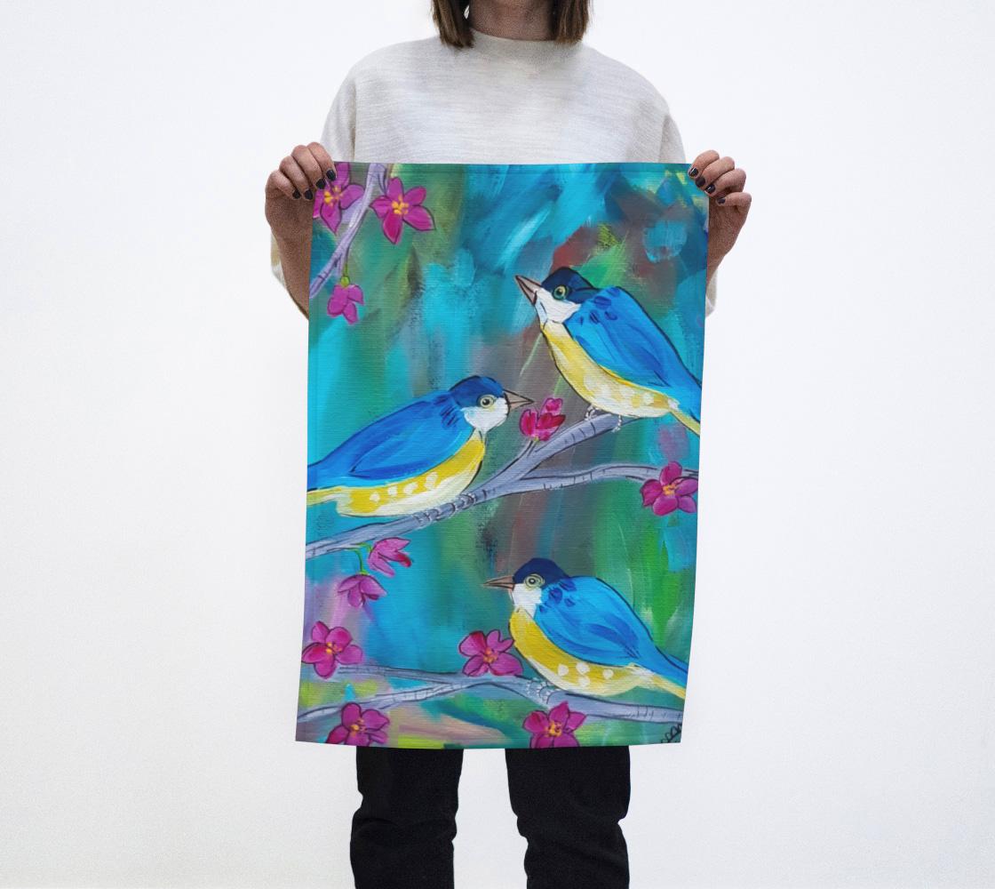 Happy Birds Tea Towel aperçu