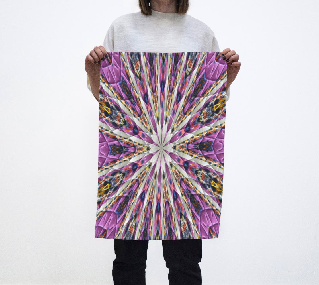 Purple Kaleidoscope Tea Towl aperçu