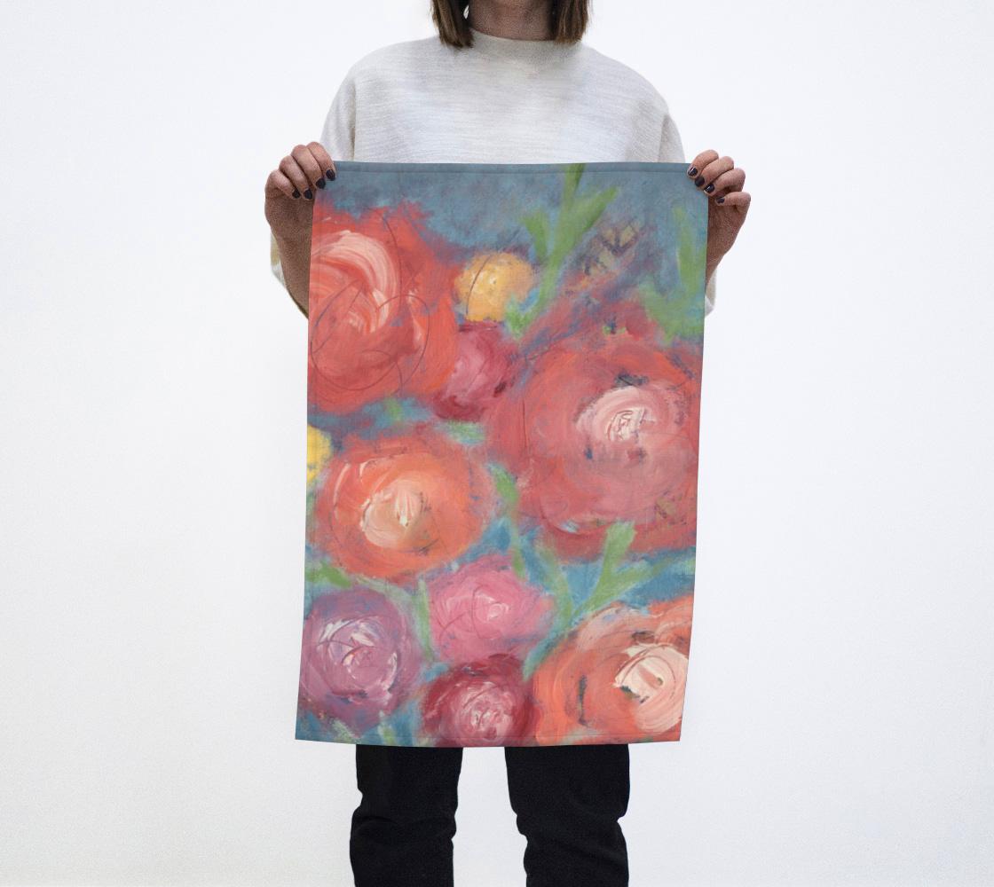 Dancing Flowers Tea Towel aperçu