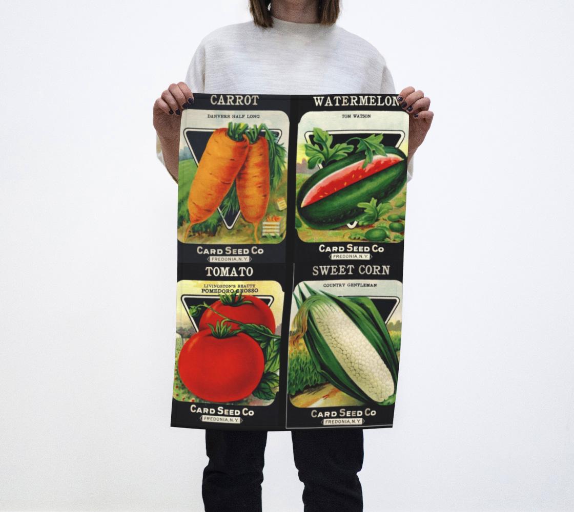 Aperçu de Card Seed Heirloom Packages 1 Tea Towel