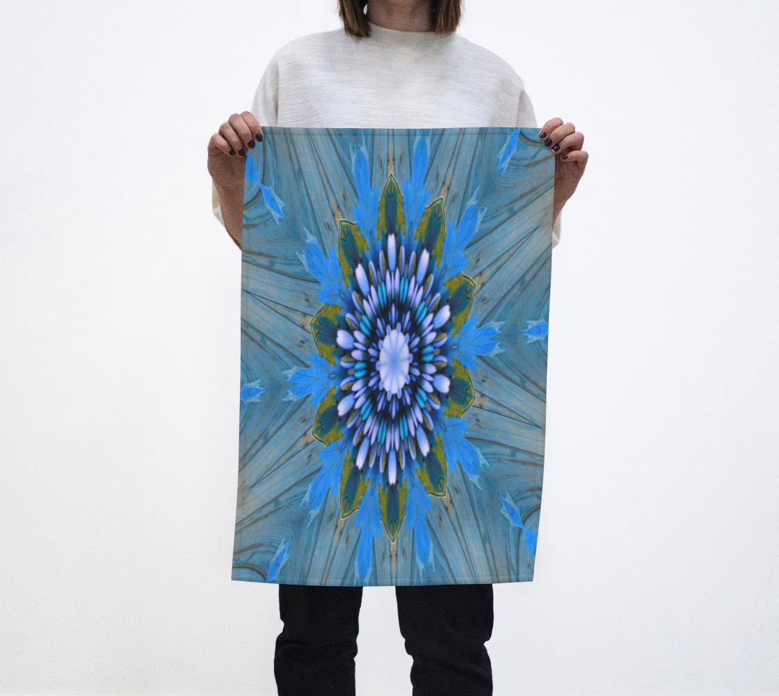 Aperçu de Blue Kaleidoscope Eat Towel