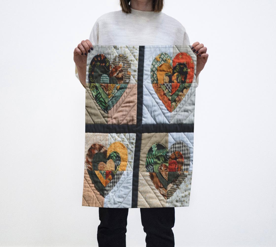 Aperçu de Quilted Hearts Tea Towel