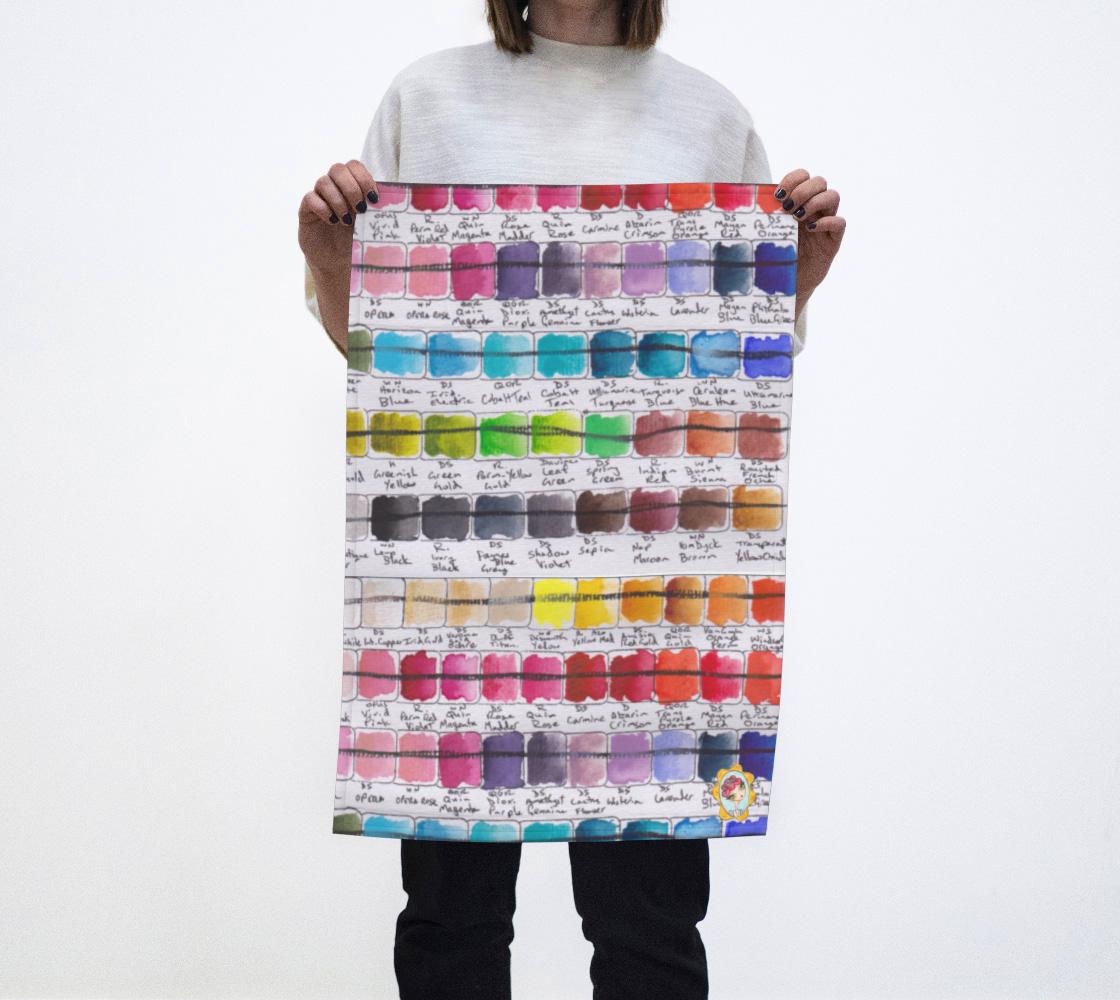Paint Palette Tea Towel #3 preview