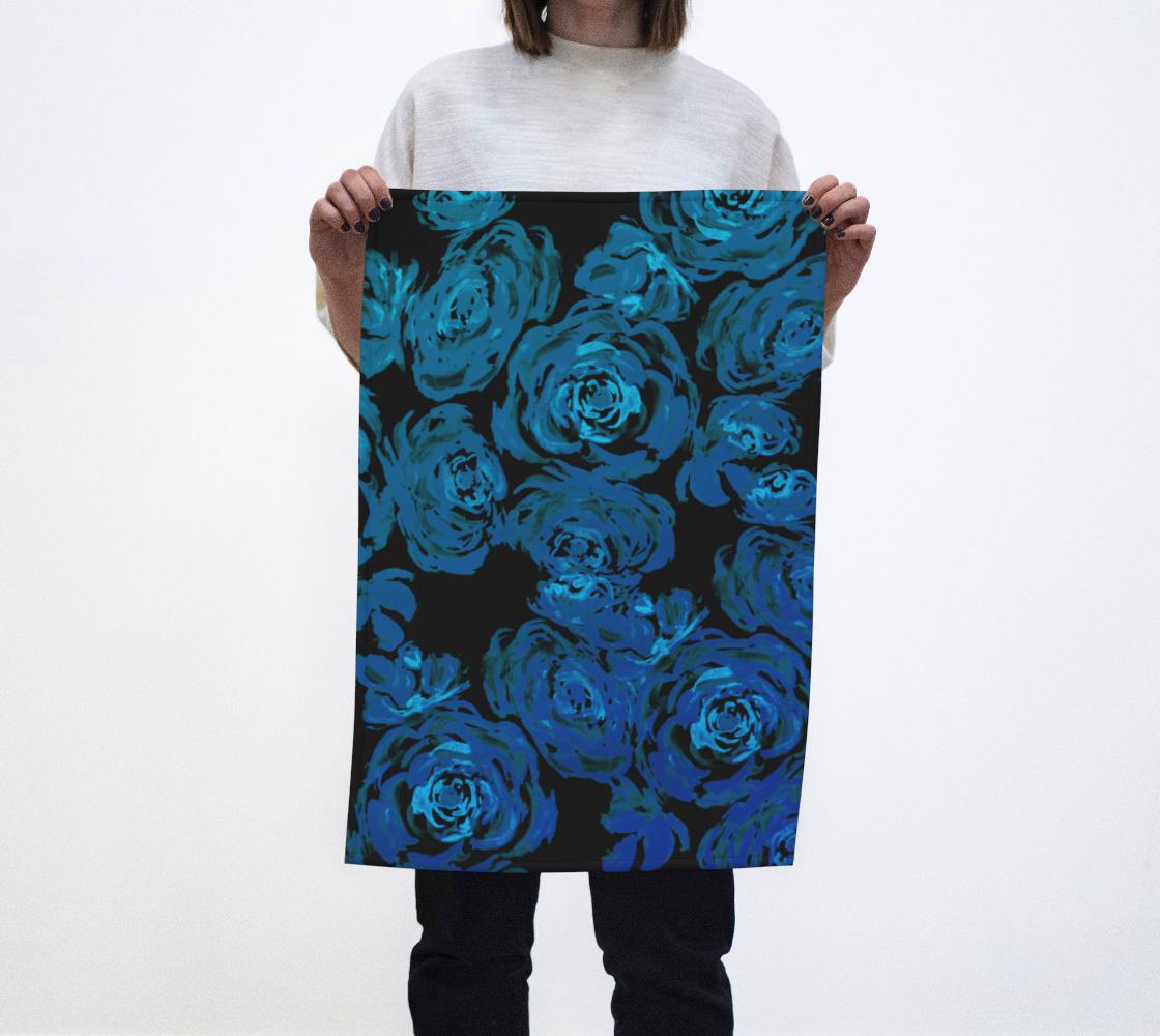 Blue Roses Pattern Tea Towel preview