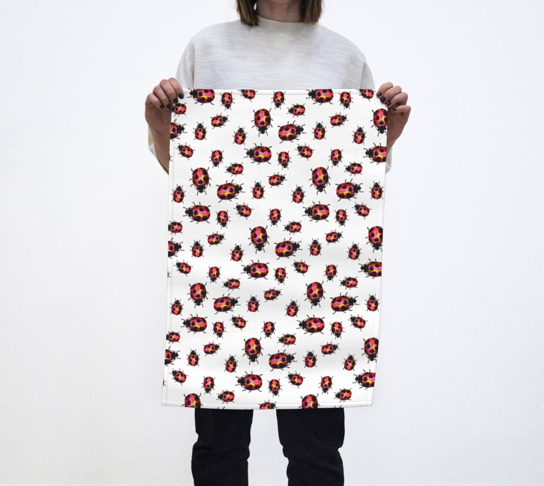 Ladybugs Pattern Tea Towel preview