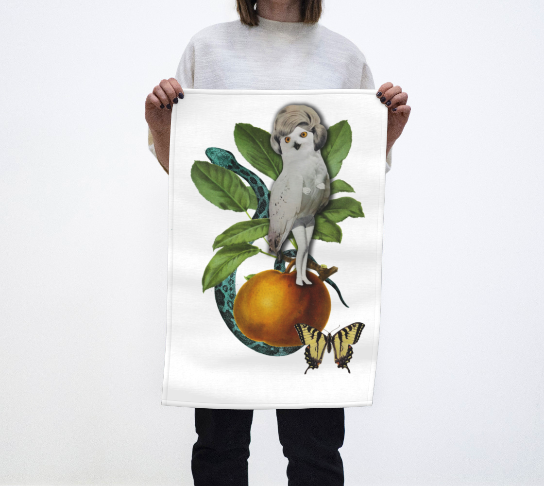 Hoo Hoo tea-towel by Nadina Tandy preview