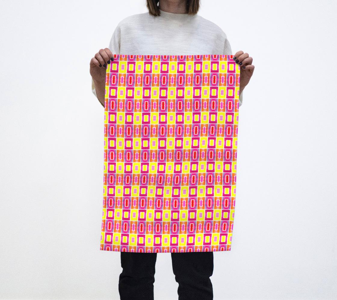 Geometric Squares Pattern Tea Towel preview