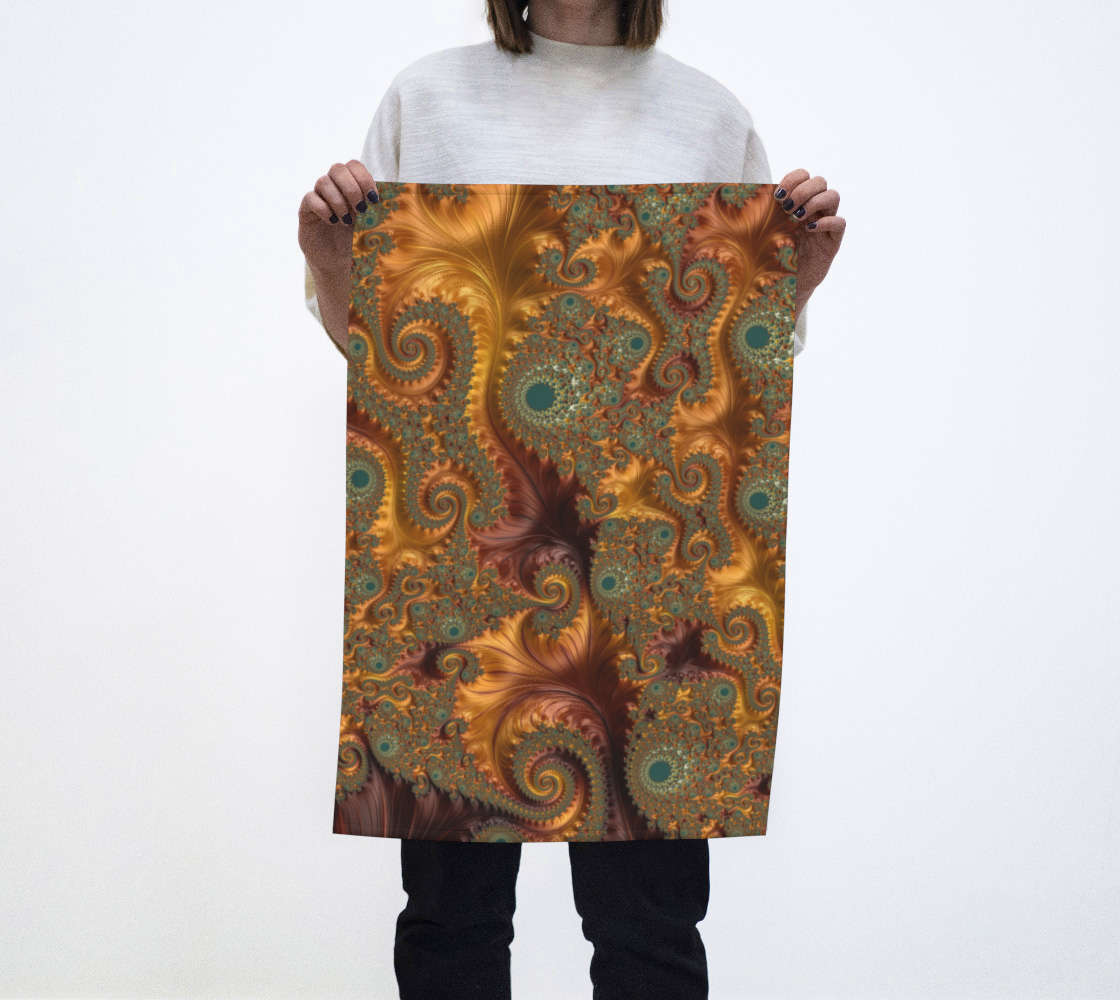 Copper Leaves Tea Towel  preview