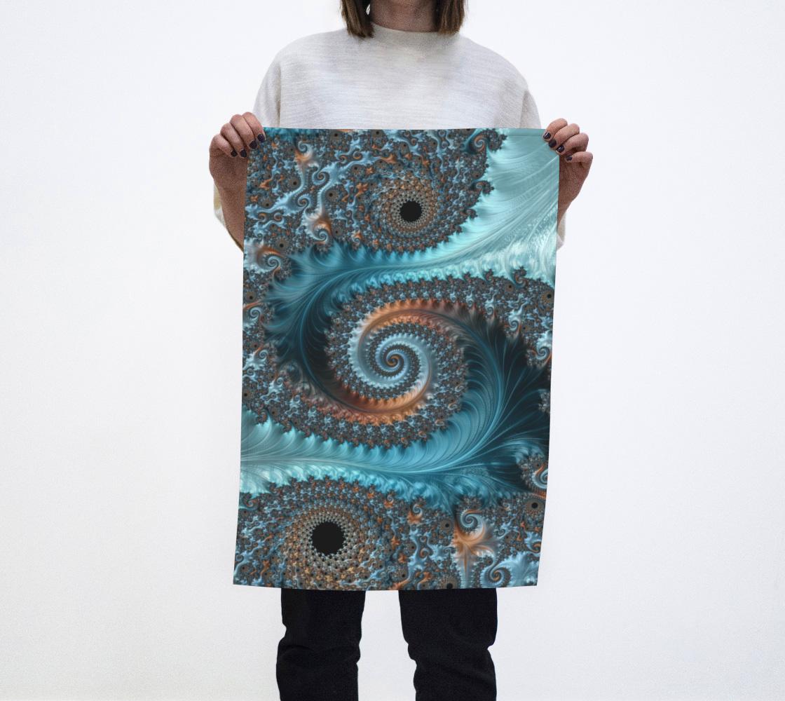 Feathery Flow Blue Tea Towel  preview