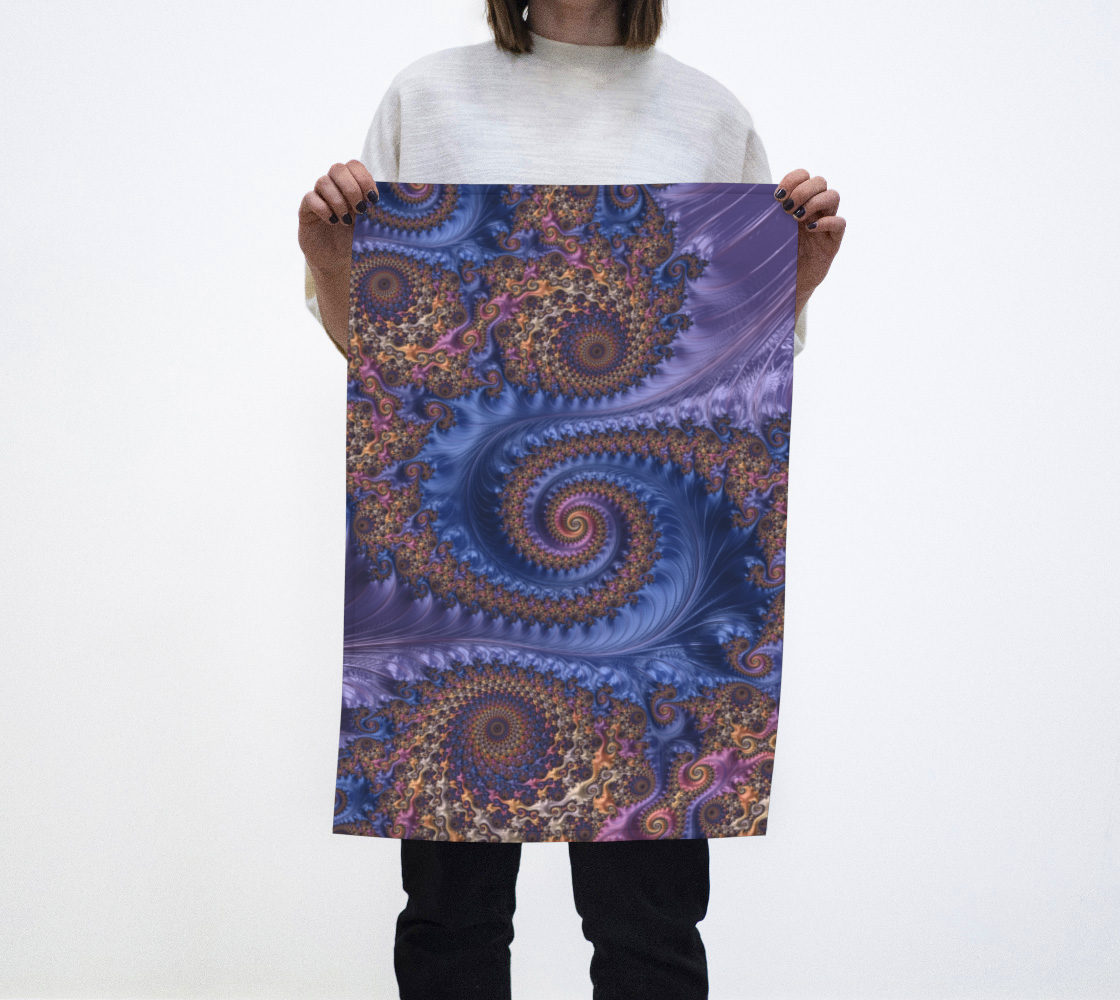 Feathery Flow Periwinkle Tea Towel  preview